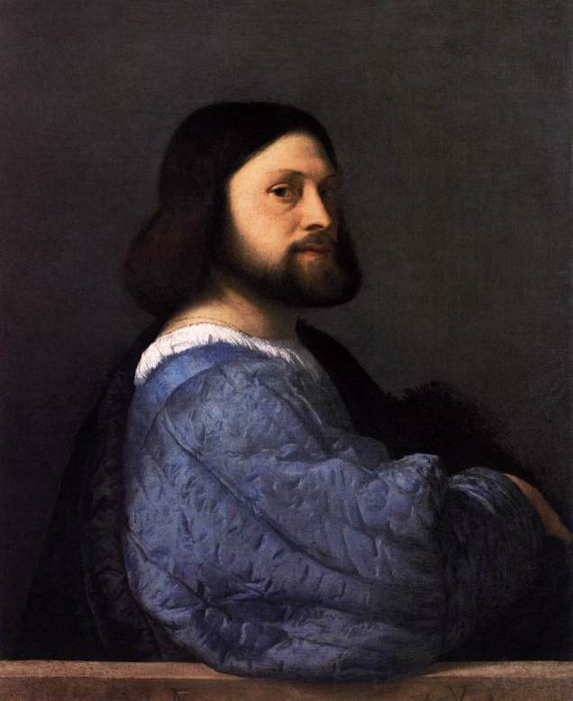 titian, man with a blue sleeve